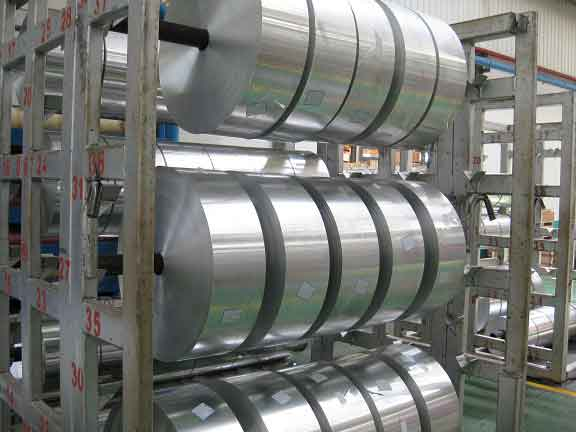 Aluminium foil slitting