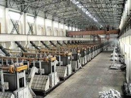 electrolytic aluminium production line